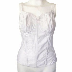 Empire Intimates (48D) VTG USA White Bridal Corset